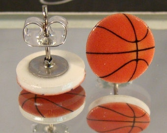 Basketball Stud Earrings