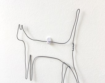 Cat lover gift- cat gifts- cat art- wire sculpture- wire art- wall decor- wall art- animal art- animal lover gift- home decor