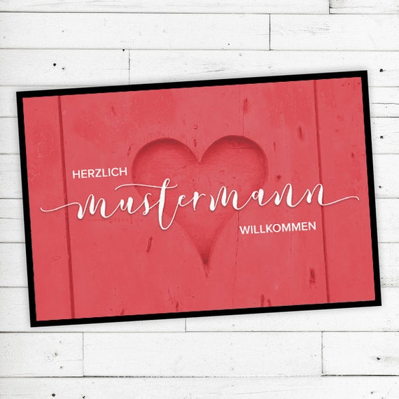 """Mat """"Love"""" personalized with name or text"""