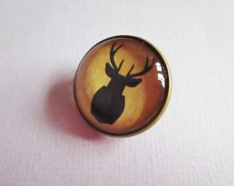 """""""Christmas reindeer"""", costume jewelry brooch"""