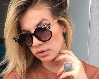 Vintage Diamonded Cat Eye Sunglasses