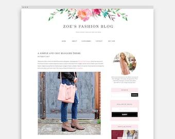 Blogger Template, Feminine Blogger Theme, Responsive Blogger Design