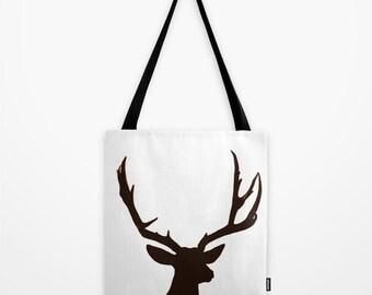 Deer Antlers Tote Bag, Reusable bag, photo tote bag