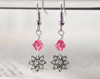 Bicone Flower Dangles