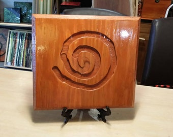 Hand  carved  wall hanging or shelf  decor. #6