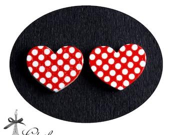 50% off-  Heart Handmade Photo Wood Cut Cabochon  (WAH-66)-(Back White)