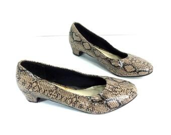 Snake Skin Low Pumps 7 - Snake Skin High Heels 7