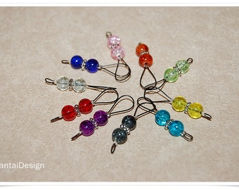 Stitch marker wire loop marker rainbow color