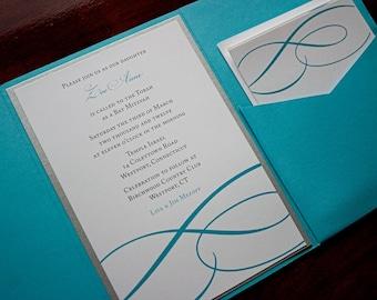 "Elegant Modern Wedding Invitation Sample - ""Zion"""