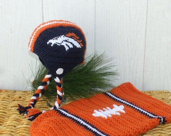 Baby FOOTBALL Cocoon, Denver BRONCOS Baby Cocoon, Broncos Baby Swaddle (Handmade by me and not affiliated with the NFL)