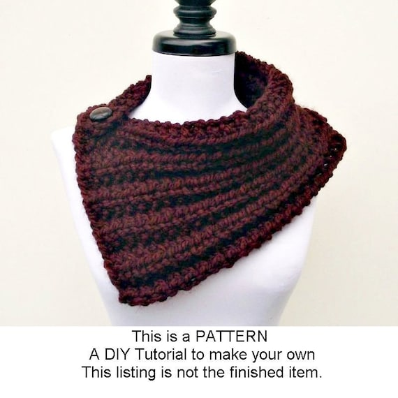 Instant Download Knitting Pattern PDF - Knit Cowl Knitting Pattern PDF for Elspeth Cowl Scarf - Womens Cowl Pattern Womens Accessories