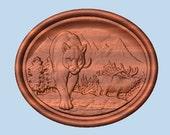Woodland Elk Wood Carving...