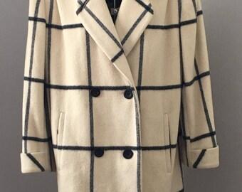 Alorna wool coat, vintage wool coat, double breasted wool coat