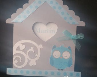 birdhouse boy christening or birth announcements