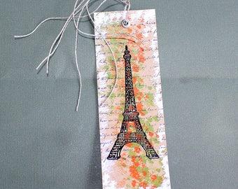 Marque page en papier cartonné Tour Eiffel - deux par Six pouces