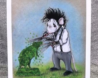Edward Scissorhands ala Rat 8 x 10 Print