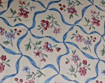 Pastel Floral Print Chintz Tablecloth 52 inches SQUARE