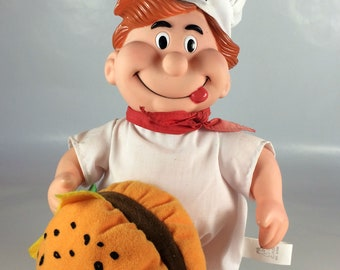 Bun Boy Restaurant Mascot Plush Advertising Doll