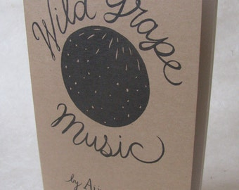 "Zine ""Wild Grape Music"" / art zine / illustration zine / poetry zine / creativity zine / artist residency / community / horse / goat / skunk"