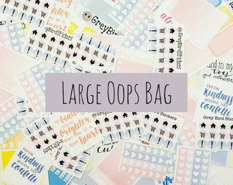 Large Oops Bag || Discounted Stickers for Planners, Journals and More!
