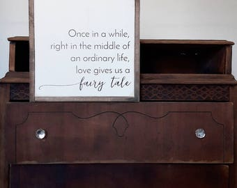 Love Signs Framed Signs Fairy Tale Wood Decor FREE SHIPPING Wood signs Rustic Decor Love Quote Wooden Sign Rustic Signs Love Wall Art