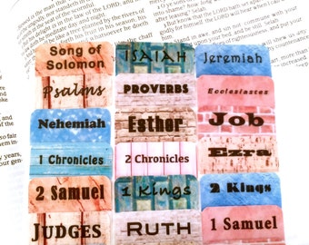 """STANDARD Fixer Upper Inspired """"Charming Textures & Eclectic Fonts"""" Bible Tabs by Victoria Anderson"""