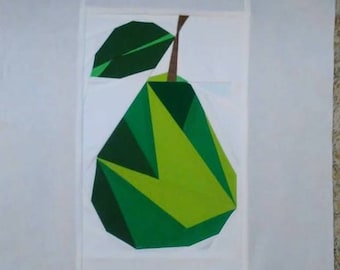 Geometric Pear Foundation Paper Piecing Pattern