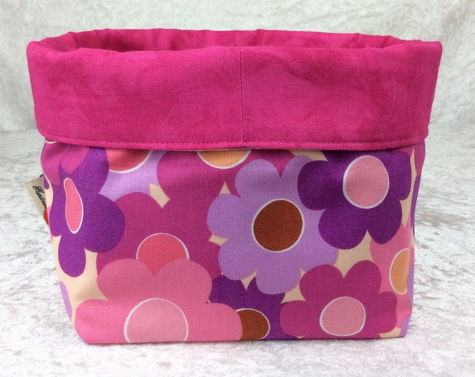 Flowers Fabric basket storage bin box cartoon
