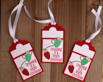 Christmas Tags, Holiday Tags, Christmas Gift Card Holder, Holiday Gift Card Holder, Christmas Light Tags, Christmas Gift Decorations