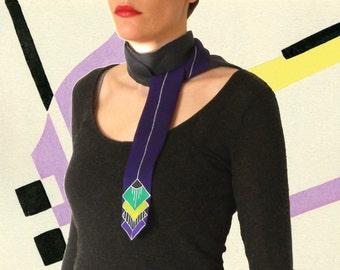 Scarf-tie GATSBY - purple