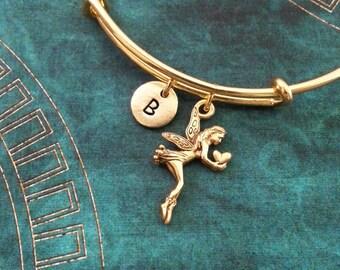 Fairy Bangle Bracelet Gold Fairy Bracelet Fantasy Bracelet Charm Bracelet Expandable Stackable Bangle Adjustable Bangle Personalized Bangle