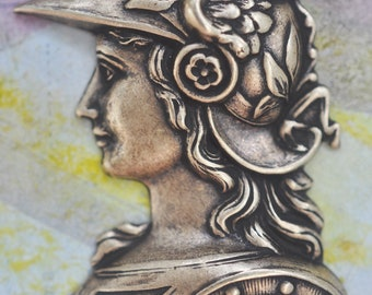 God Mercury, Hermes, Brass Stamping, Brass Ox, Brass Stampings Made in the USA, Mythological Stampings