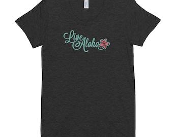 Live Aloha - Women's Crew Neck T-shirt