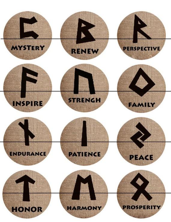 Runes Magnets Pins Devination Oracles Norse Pagan Symbols