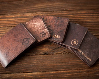 Slim mens wallet, leather wallet, cool groomsmen gift, mens leather wallet, leather wallet mens, wallet men
