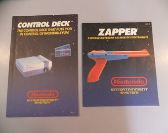 Vintage NES Nintendo System Console and Zapper Spare Manuals