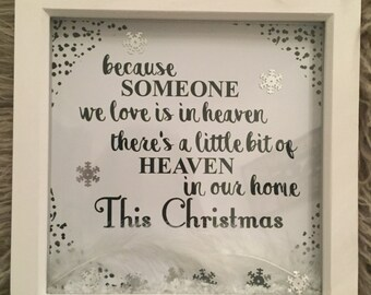 Because some we love is in Heaven, there is heaven in out home this christams