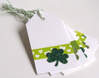 St. Patrick's Day Tags, Shamrock Tags, St. Patrick's Day, Shamrock, St. Patrick's Day Gift Tags, March 17, Gift Tags, Treat Tags, Holiday