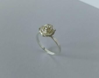 Sterling silver rose ring - Rose ring -  Small rose ring - Flower ring