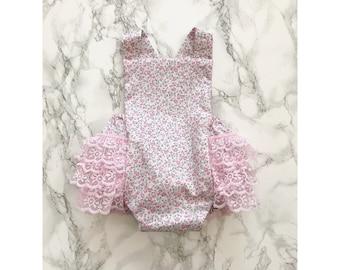 Bubble bum romper -new born shoot outfit