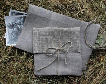 "CD/DVD/Photo/Picture/Card natural linen packaging.4.5""x6""Linen envelopes.Favor bags.Eco Wedding .Baby/Bridal shower.Baptism/Christening3"