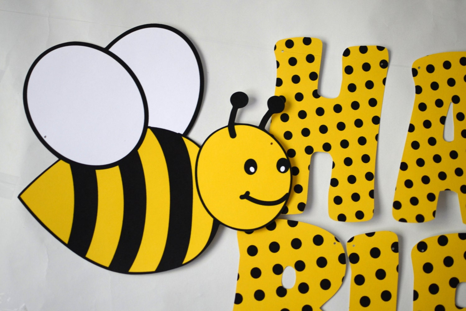 Bumble bee birthday banner honey bee party decorations bug zoom filmwisefo Images