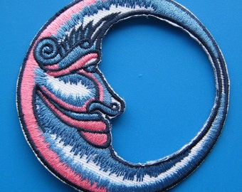 SALE~ Iron-On embroidered Patch Blue Moon 3 inch