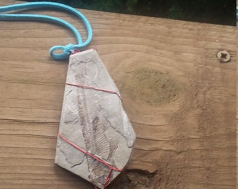 stories of the Ancestors Stones; small fish fossil pendant