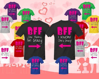Best Friend FOREVER (BFF) Matching t-shirts