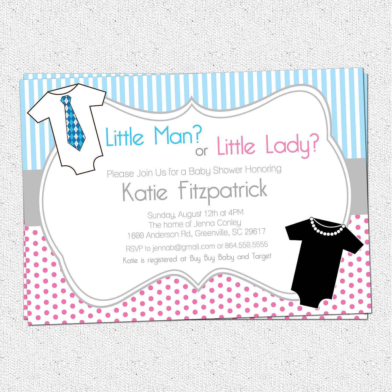 Gender neutral reveal baby shower invitation printable zoom filmwisefo Images