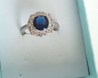 Sapphire Ring Engagement Ring Art Deco Ring 1930s Ring 1920s Ring Blue Engagement Ring Blue Sapphire