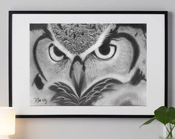 Owl, Art Original and  Print Available