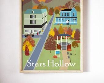 Poster Gilmore Girls inspired Luke's Diner, Where you lead, Lorelai lukes diner, poster wall art, paul anka the dog Stars Hollow Poster