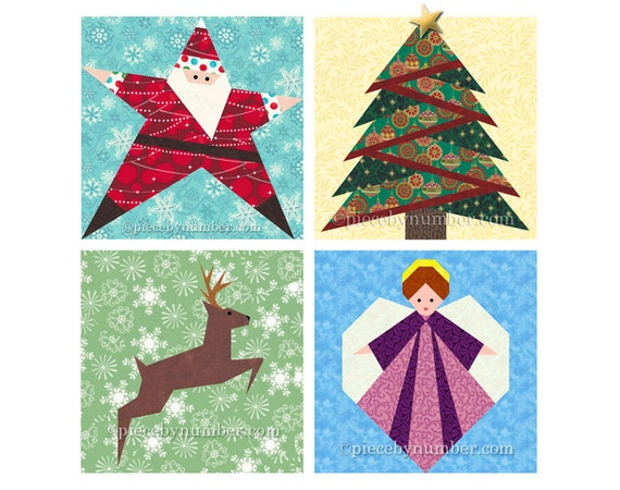 Christmas Quilt Pattern Pack Paper Piecing Quilt Patterns